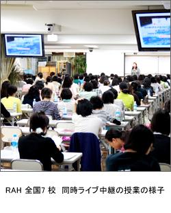RAH 全国7校 同時ライブ中継の授業の様子